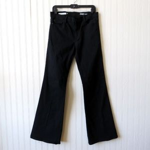 GAP Womens Authentic Flare Jeans Black 29R